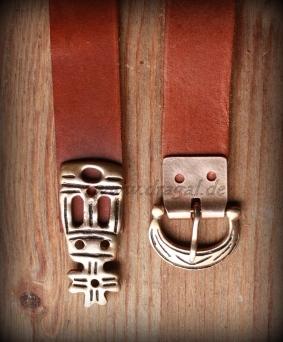 Herren Neue Hochwertig Gebundener Ledergürtel Gestaltet mit Silberne Schnalle
